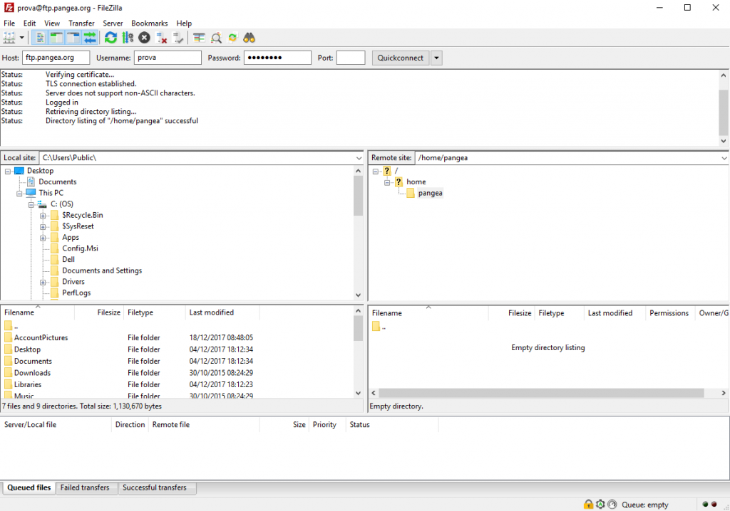 Config-Filezilla